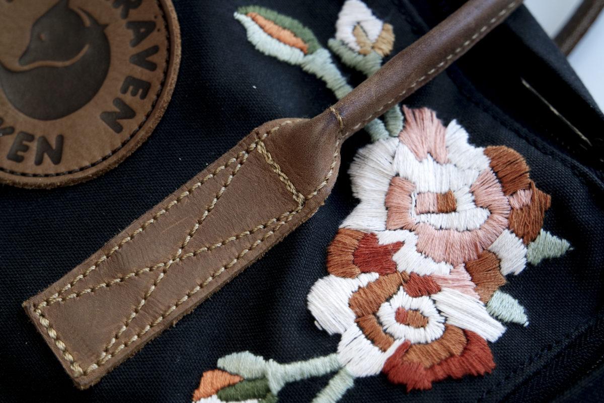 hand embroidered kånken